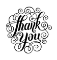 thank you handwritten lettering inscription vector image