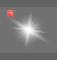 the white clear light sun explosion vector image vector image