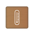 thermometer icon on wooden blocks isolated on a vector image
