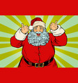 thumb up happy santa claus vector image vector image