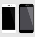 touchscreen smartphone set black and white vector image vector image
