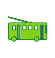 trolleybus sign lemon scribble icon on vector image