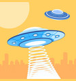 ufo attacking a city vector image