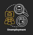 unemployment chalk concept icon poverty idea vector image vector image