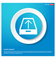 upload icon abstract blue web sticker button vector image