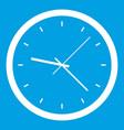Wall clock icon white