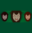 werewolf halloween mask party costume vector image vector image