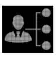 white halftone distribution manager icon vector image vector image