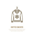 woolen sweater knitted clothing vector image vector image