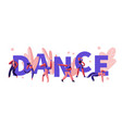 young men and women characters dancing vector image vector image