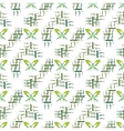 Butterfly and leaf geometric seamless pattern vector image
