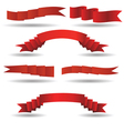 set of red banners vector image