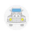 Cartoon car gray color vector image