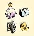Money icons cartoon set vector image