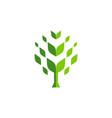 abstract tree logo icon green concept vector image vector image