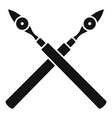 architect pen tool icon simple style vector image