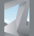 architectural abstraction of designs vector image