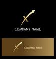arrow letter x progress gold logo vector image