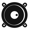Audio speaker icon simple style