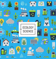 background with ecology flat icons vector image