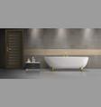 bathroom interior design realistic mockup vector image vector image