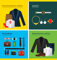 business clothes male and female office wardrobe vector image vector image