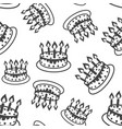 cake with candle seamless pattern background vector image vector image