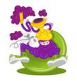 cartoon character hookah smoke vector image vector image