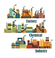 Chemical and industrial factories vector image vector image