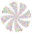 Circle fireworks swirl flower vector image
