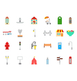 City elements icons set vector image vector image