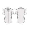 classic shirt technical fashion vector image vector image