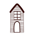 cottage home residential cartoon isolated design vector image
