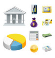 design of bank and money symbol set of vector image