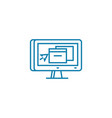 desktop environment linear icon concept desktop vector image vector image
