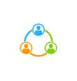 diagram social network logo icon design vector image vector image
