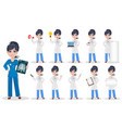 Doctor woman professional medical staff set