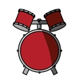 drums instrument isolated icon vector image vector image