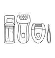electric epilator tweezers moisturizing lotion vector image vector image