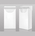 empty open pack cigarettes vector image vector image