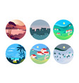 flat design concepts travel and tourism vector image