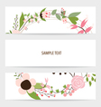 Flower background brochure template Set of floral