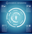 futuristic abstract infographics vector image vector image