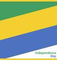 gabun independence day vector image vector image