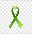 green awareness ribbon vector image vector image