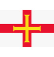 Guernsey flag vector image vector image