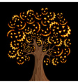 Halloween horror icons tree vector image vector image