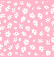 hand drawing spring flowers seamless vector image