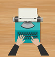 hands typing an article vector image vector image