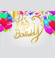 happy birthdaybeautiful greeting card scratched vector image vector image